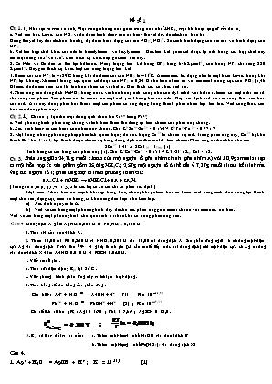 Bài tập Hóa học 11 nâng cao