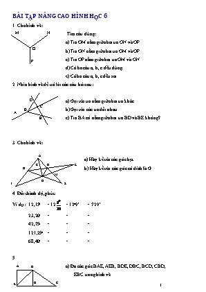Bài tập nâng cao Hình học 6