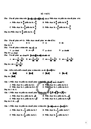 Bài tập Số phức 12