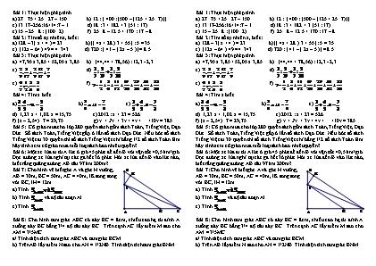 Bài tập Toán lớp 5 lên lớp 6 (4)