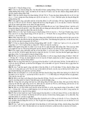 Bài tập Vật lý lớp 8 - Chương 1, 2