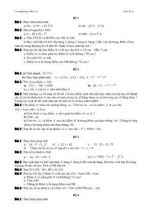 Bộ đề 2 - Kiểm tra học kỳ I môn Toán 6