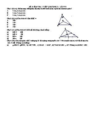 Bộ Đề kiểm tra 1 tiết chương 3 – lớp 7