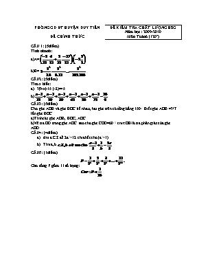Đề kiểm tra chất lượng HSG môn Toán 6