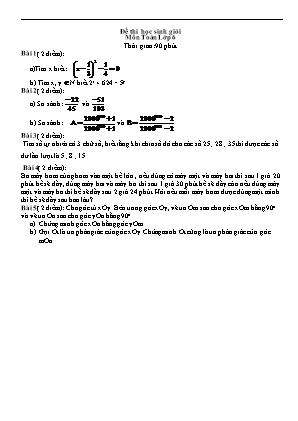 Đề thi học sinh giỏi Môn Toán Lớp 6 (Có lời giải)