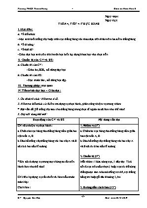 Giáo án Hình học 6 - Tuần 4, 5 - GV: Nguyễn Chí Bền - Trường THCS Thạnh Hưng