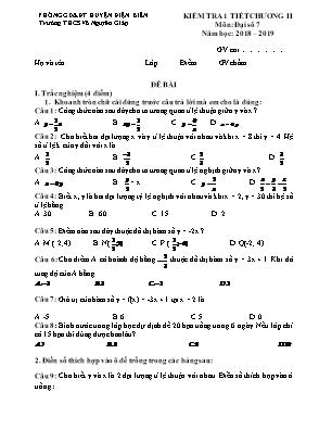 Kiểm tra 1 tiết chương II môn Đại số 7 - Trường THCS Võ Nguyên Giáp