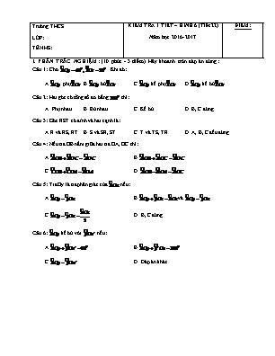 Kiểm tra 1 tiết – Hình 6 (tiết 22)