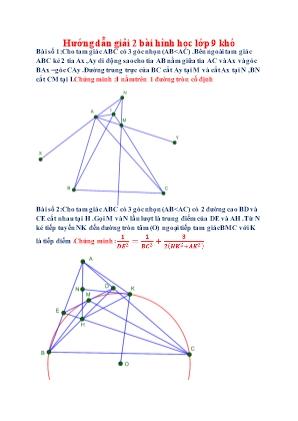 2 Bài Hình học Lớp 9 khó (Có đáp án)