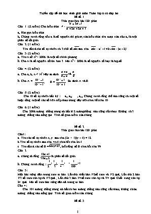 Tuyển tập đề thi học sinh giỏi môn Toán lớp 6 (Có đáp án)
