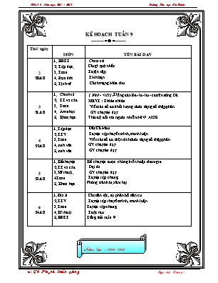 Giáo án Lớp 5 - Tuần 9 - Năm học 2018-2019 - Huỳnh Xuân Đúng